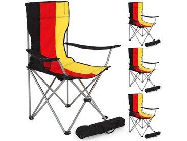 4 Campingstühle Deutschland von tectake