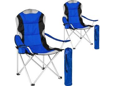 2 Campingstühle mit Polsterung blau von tectake