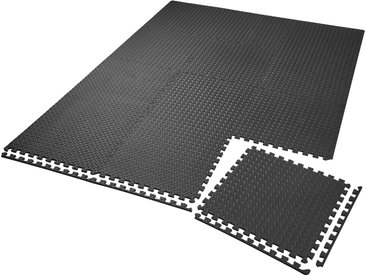 Bodenschutzmatte 12-tlg. schwarz von tectake