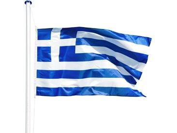 Aluminium Fahnenmast Griechenland von tectake