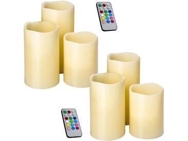 2 Sets LED-Kerzen mit Fernbedienung und Farbwechsel von tectake