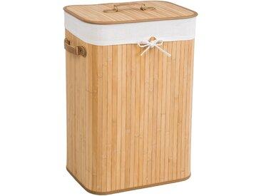 Wäschekorb mit Wäschesack eckig beige 72 L von tectake