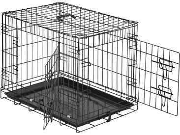 Hundebox Gitter tragbar 60 x 44 x 51 cm von tectake
