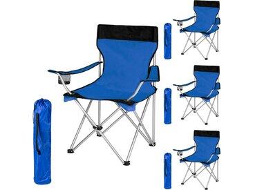 4 Campingstühle blau von tectake