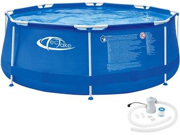Swimming Pool rund mit Stahlrahmen und Filterpumpe Ø 300 x 76 cm von tectake
