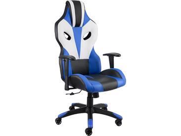 Bürostuhl Optimus schwarz/blau/weiß von tectake