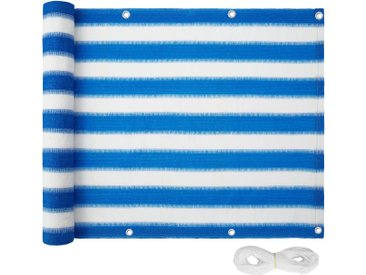 Balkon Sichtschutz, Variante 2 weiß/blau 90 cm von tectake