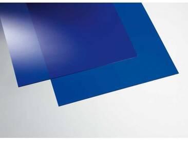 Acryl transparent blau  500 x 500 mm