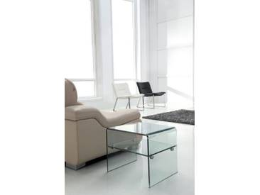 Glas Beistelltisch Layer mit Einlegeplatte