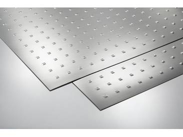 Metalleffektplatte Quadrate geprägt