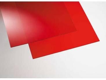 Acryl transparent rot  500 x 1000 mm