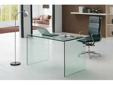Design Schreibtisch Nepal 120 aus Glas (klar)