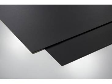 Effektplatte Leder schwarz