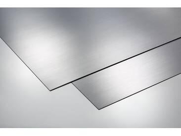 Metalleffektplatte Silber gebürstet