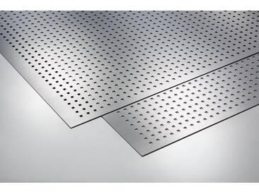 Metalleffektplatte Quadrate gestanzt