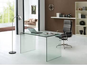 Design Schreibtisch Nepal 160 aus Glas (klar)