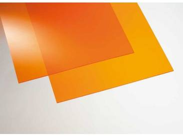 Acryl transparent orange  500 x 500 mm