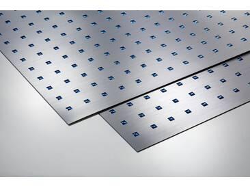 Metalleffektplatte Quadrate 3D blau