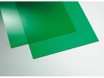 Acryl transparent grün  500 x 500 mm