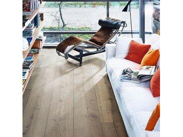 Meister Lindura-Holzboden - HD 400 Eiche rustikal lehmgrau XL-Diele naturgeölt - Hightech-Holzboden als Landhausdiele mit einer Oberschicht aus Edelholz