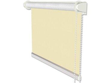 Klemmfix Verdunkelungsrollos / Thermorollos mit Seitenzug in Beige - Seitenzugrollos 41,5x175 cm