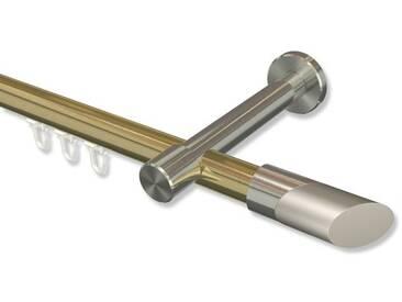 Innenlauf-Gardinenstangen Messing-Optik / Edelstahl-Optik 20 mm Prestige Verano 100 cm