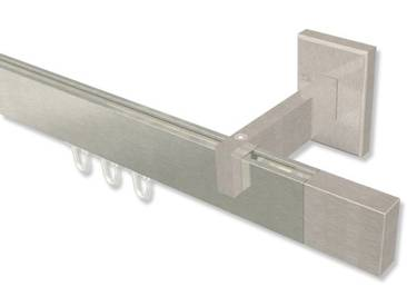 Innenlauf Gardinenstangen Edelstahl-Optik kantig Smartline Lox 100 cm