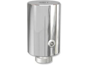 Deckenträger / Deckenhalterung Chrom 2,5 Sonius für 20 mm / 14x35 mm Innenlaufstangen (Set 2 Stück)