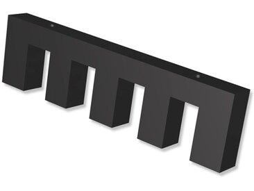 Deckenträger / Deckenhalterung 4-läufig Schwarz 1 cm Smartline für 14x35 mm Innenlaufstangen