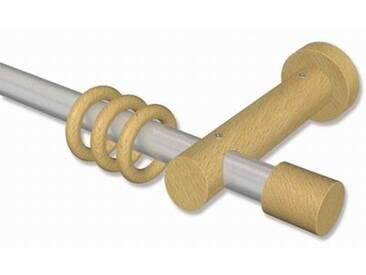 Gardinenstangen Silbergrau / Buche 20 mm Talena Feta Metall / Holz 100 cm