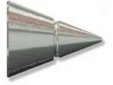 Gardinenstangen Endstück Alisson (Rillenkegel) Edelstahl für 12 mm (Set 2 Stück)