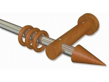 Vorhangstange Edelstahl / Holz Kirschbaum 20 mm Talena Siveo 100 cm