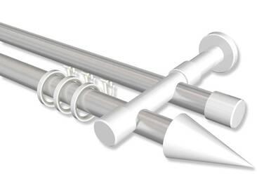 Rundrohr-Innenlaufstange Silbergrau / Weiß, Aluminium / Metall 20 mm Ø Prestige Savio 100 cm