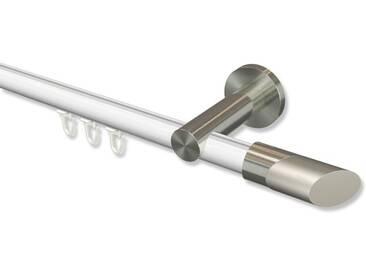 Innenlauf-Gardinenstangen Weiß / Edelstahl-Optik, Aluminium / Metall 20 mm Ø Platon Verano 100 cm