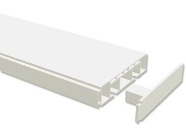 Kunststoff Gardinenschiene / Plastik Hohlkammerschiene 2-läufig Weiß Concept 120 cm