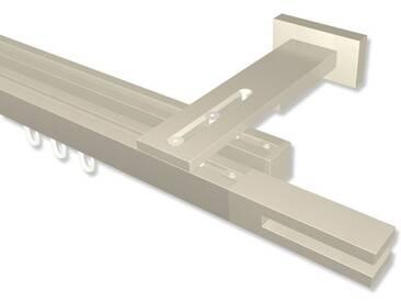 Innenlaufstange Satin-Silber zweiläufig eckig/kantig 20x20 mm Quadline (Multi) Diapo 100 cm