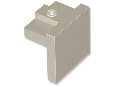 Endstücke Sono (Kappe) Satin-Silber für 20x20 mm Innenlaufstangen (Set 2 Stück)