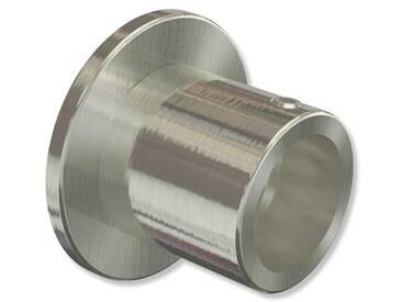 Wandlager / Nischenträger Edelstahl-Optik für 16 mm Gardinenstangen