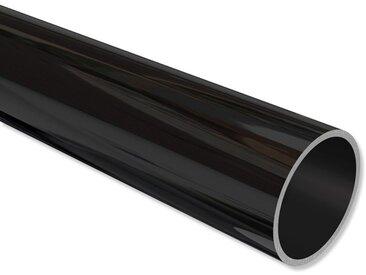 Vorhangstangen Rohr Schwarz (Metallstange) in 20 mm 100 cm