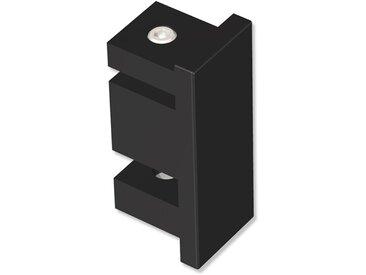 Endstücke Paxo (Kappe) Schwarz für 14x35 mm Innenlaufstangen (Set 2 Stück)