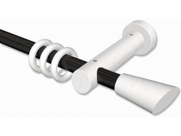 Vorhangstange Schwarz / Weiß 20 mm Talena Bero Metall / Holz 100 cm