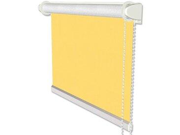 Thermorollo / Verdunkelungsrollo mit Seitenzug in Gelb - Klemmfix Rollo 41,5x175 cm