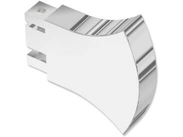 Endstücke Conex (Rundung) Chrom für 14x35 mm Innenlaufstangen (Set 2 Stück)