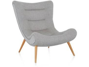 Design-Sessel, IMPRESSIONEN living grau/natur