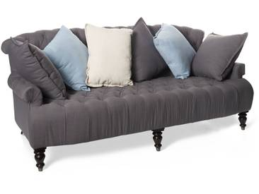 Sofa mit farbigen Kissen, IMPRESSIONEN living grau/bunt