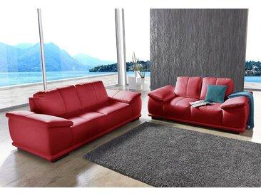 sit&more Polstergarnitur, rot, FSC-Zertifikat, , , FSC®-zertifiziert