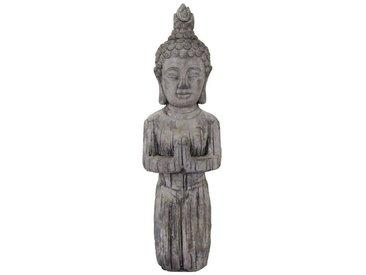Buddhafigur, grau,