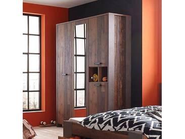 Kleiderschrank mit Spiegelauflage, grau, Breite 156cm, »Clif«, FSC®-zertifiziert, FORTE