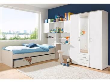 PACK´S Jugendzimmer-Set weiß, Mit 3-trg. Kleiderschrank, »Emilio«, rauch
