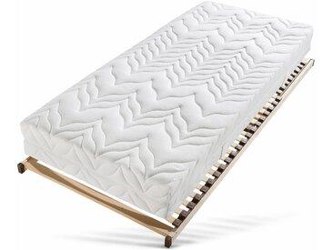 Taschenfederkernmatratze + Lattenrost »Tendenz K«, beige, 0-80 kg, 80x200cm, Breckle
